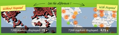 Antes y después. Google Maps antes de Mapeed.