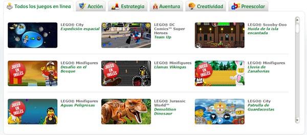 Juegos de Lego.